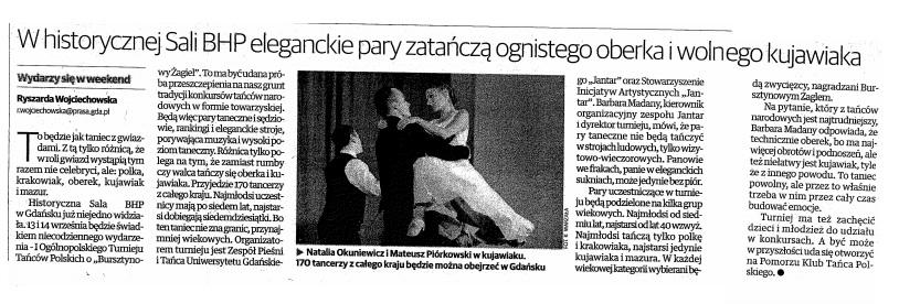 Dziennik Bałtycki, 13-14.09.2014r.